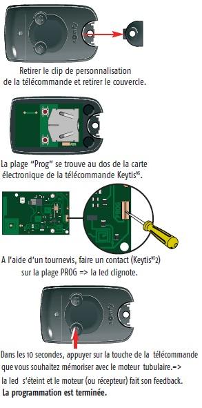compatibilité keytis ns 2 rts avec prise télécommandée - avec